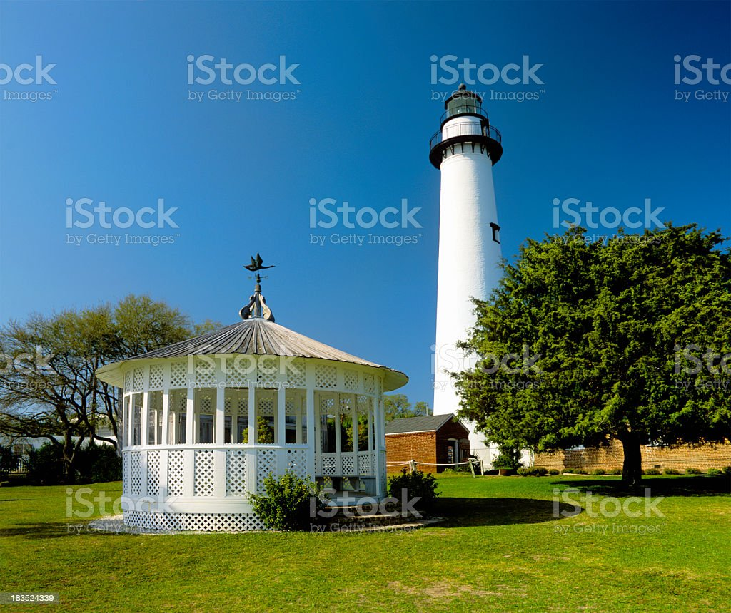 St. Simons Island Lighthouse stock photo