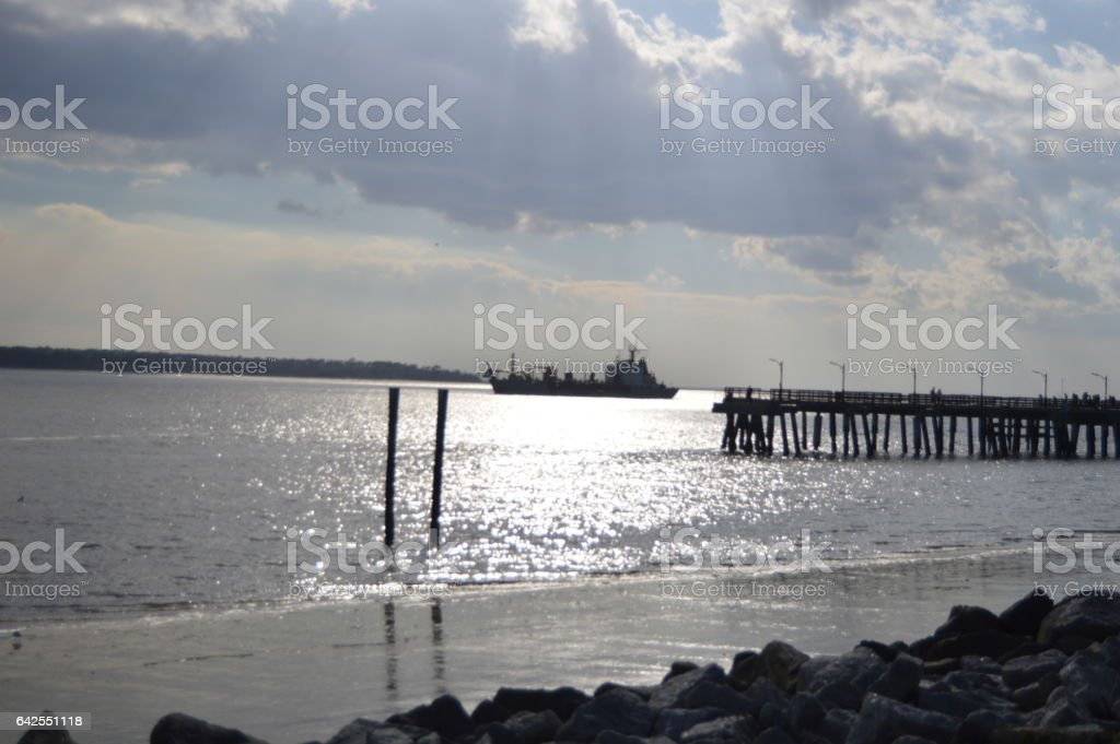 St. Simons Island Pier stock photo