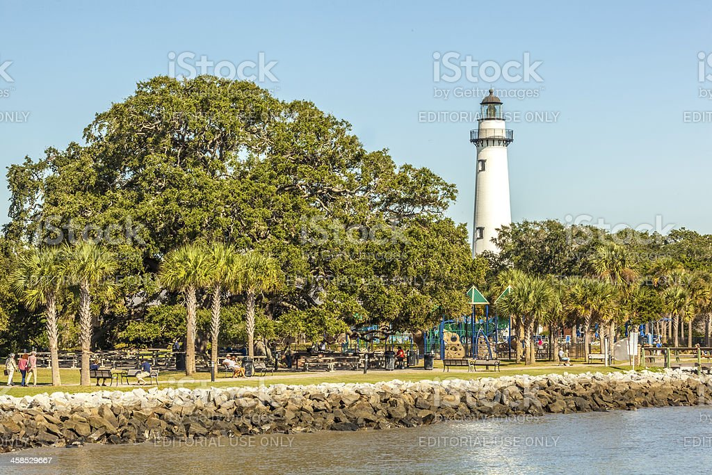 St. Simons Island Village Waterfront stock photo