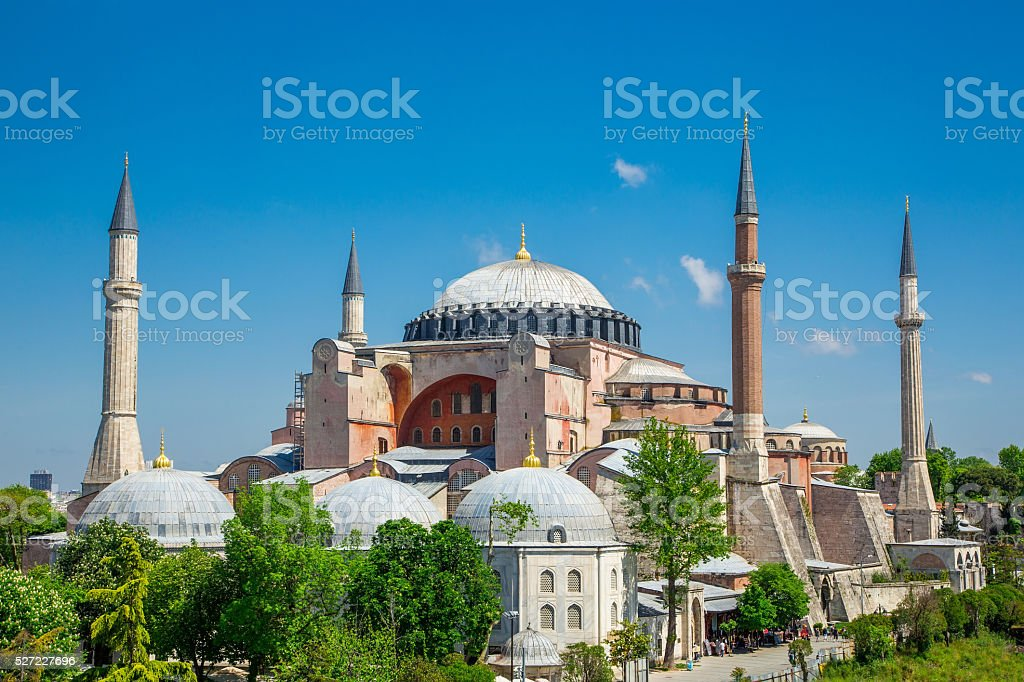 St. Sophia Cathedral , Istanbul, Turkey stock photo