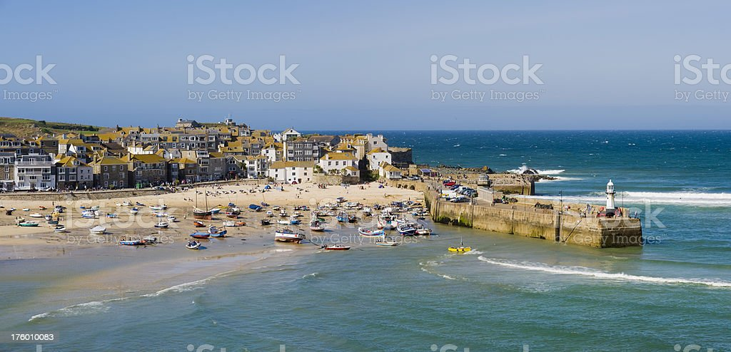 St St Ives Fishing Village in Cornwall royalty-free stock photo