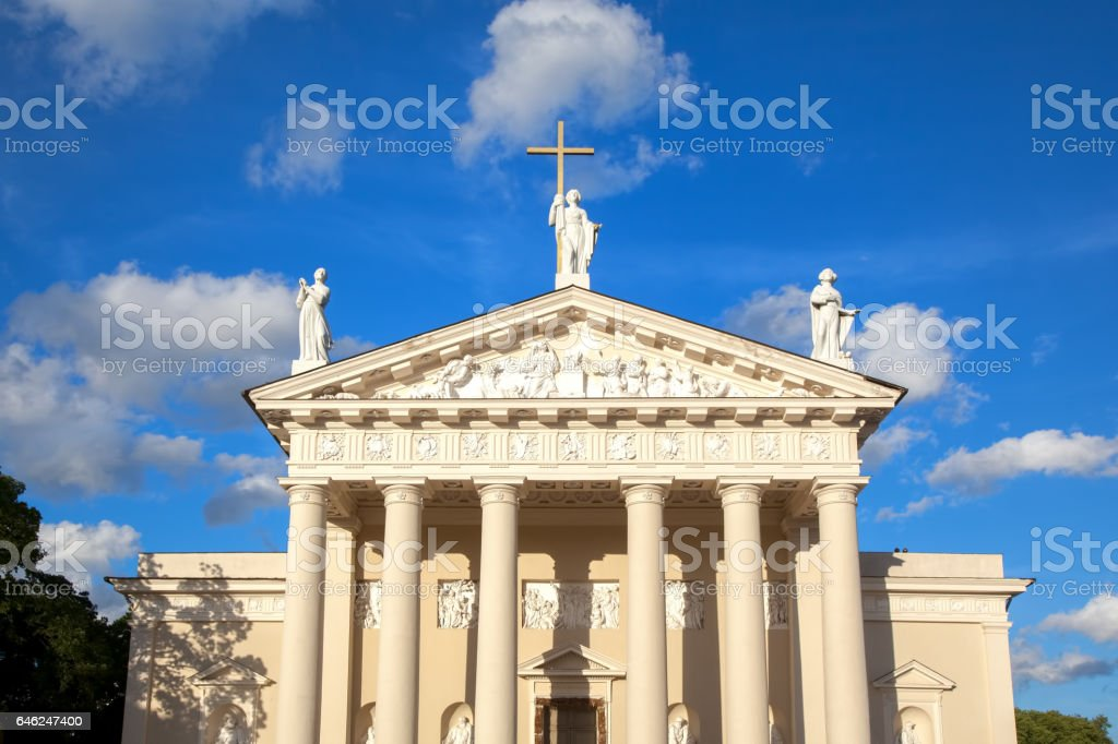 St. Stanislaus Cathedral in Vilnius, Lithuania. stock photo