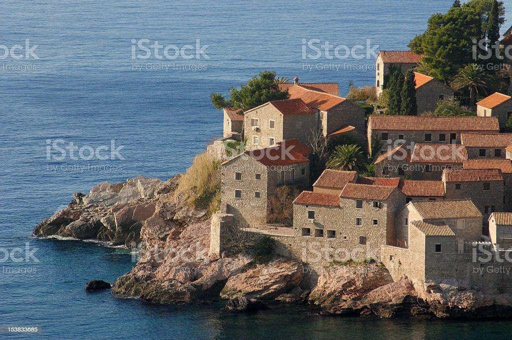 St Stefan bay royalty-free stock photo