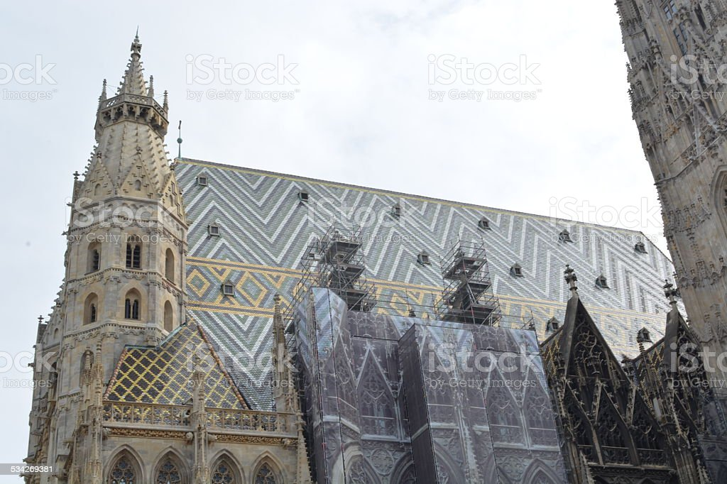 St. Stephan Cathedral in Vienna stock photo