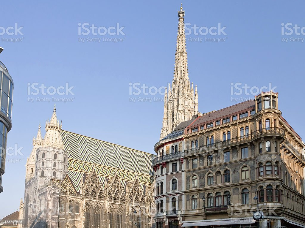 St Stephan Cathedral, Vienna, Austria stock photo