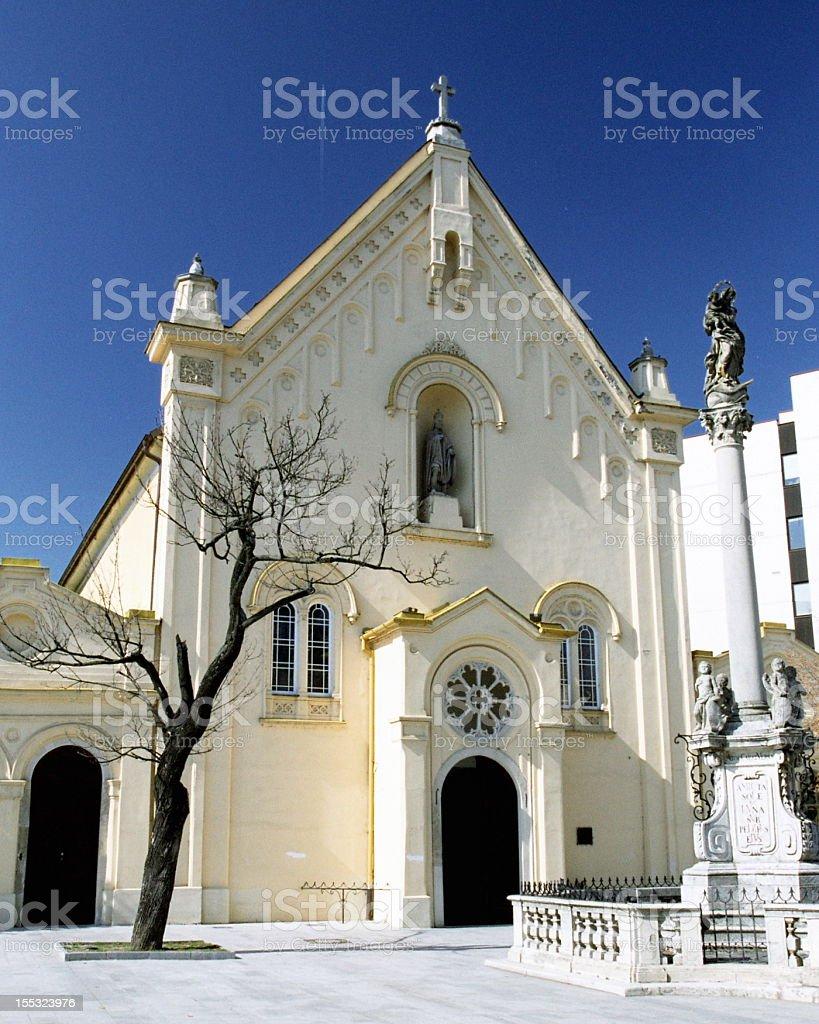 St. Stephan's Church -  Capuchins Monastery in Bratislava stock photo