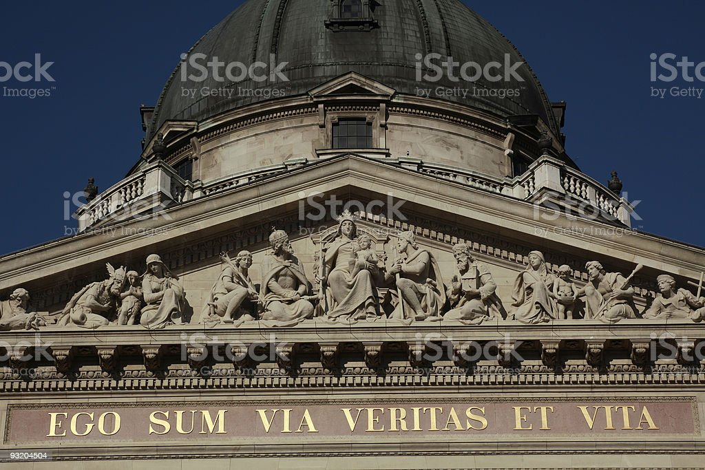 St. Stephen Basilica, Budapest, Hungary royalty-free stock photo