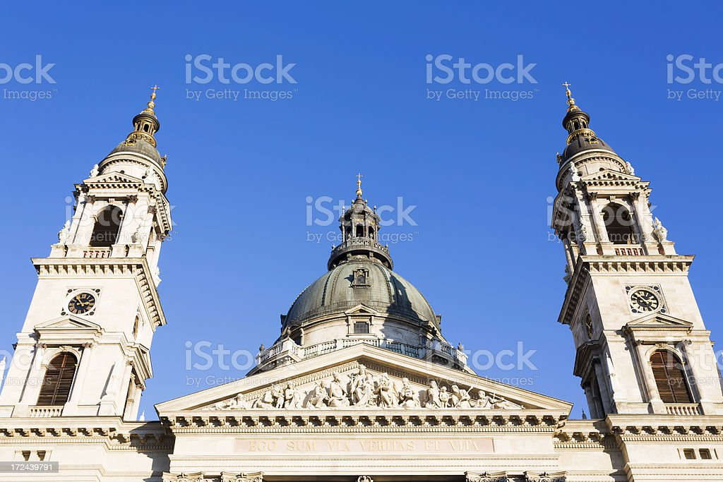 St Stephen's Basilica Budapest stock photo