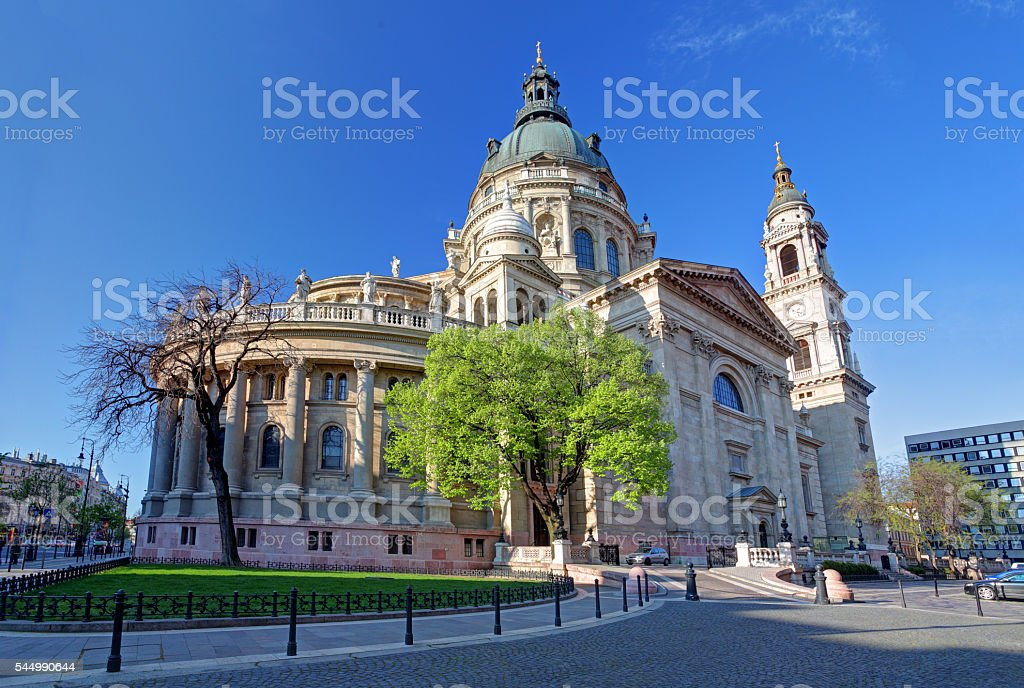 St. Stephen's Basilica in Budapest, Hungary stock photo