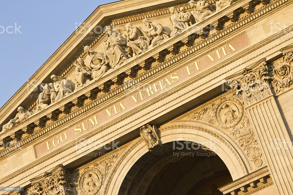 St. Stephen's Basilica in Budapest royalty-free stock photo