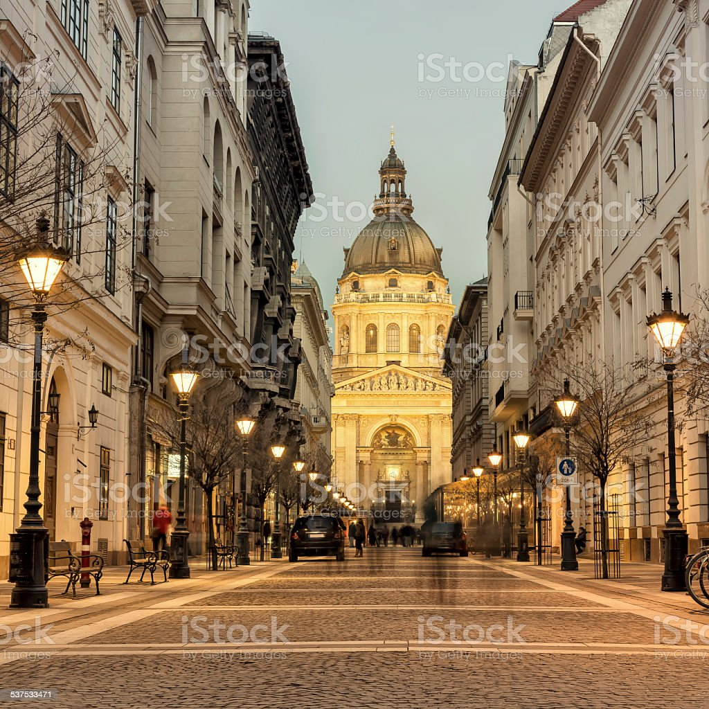St Stephen's Basilica in Budapest stock photo