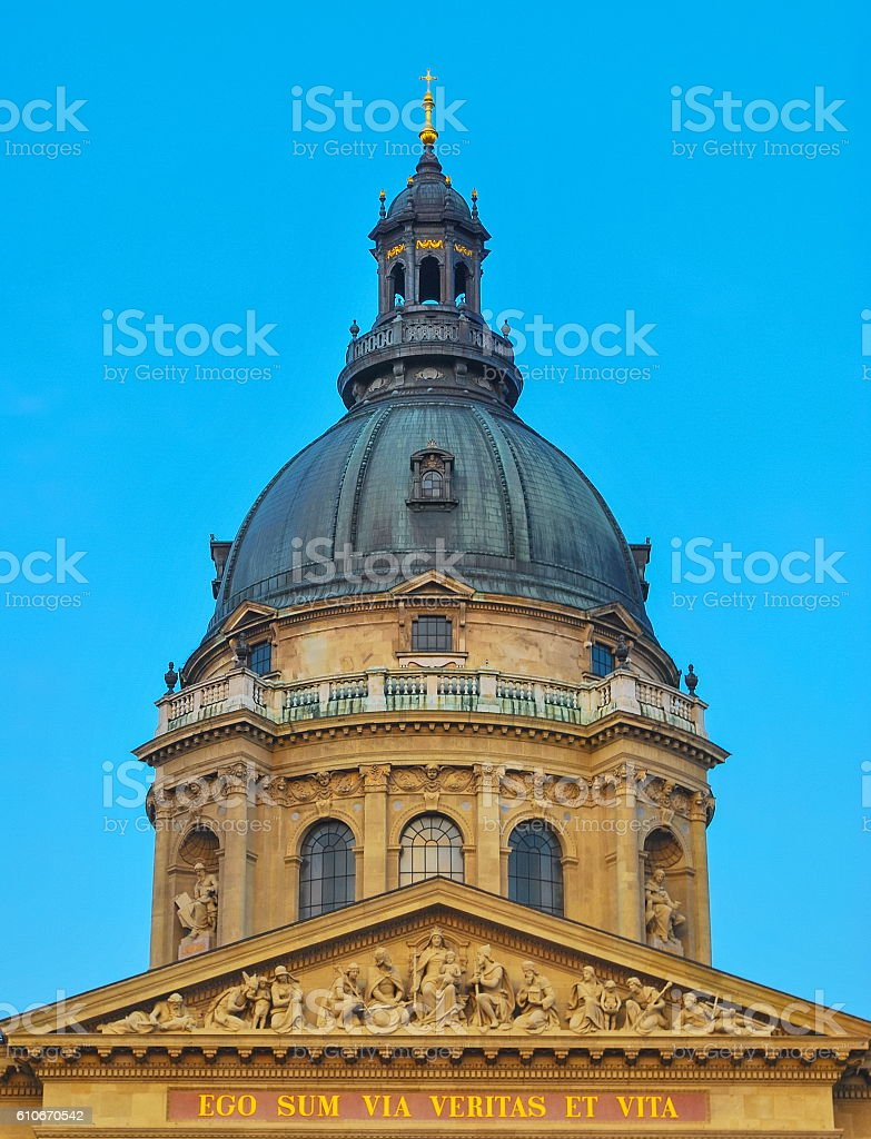 St. Stephen's Basilica stock photo