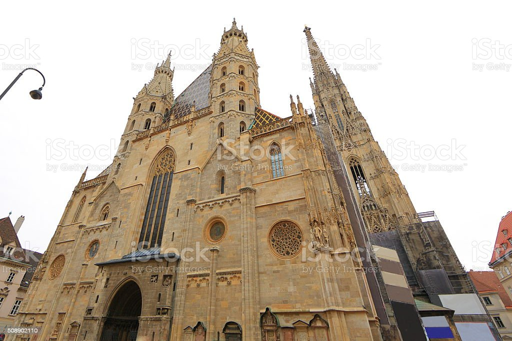 St. Stephens Cathedral in Vienna by Day stock photo