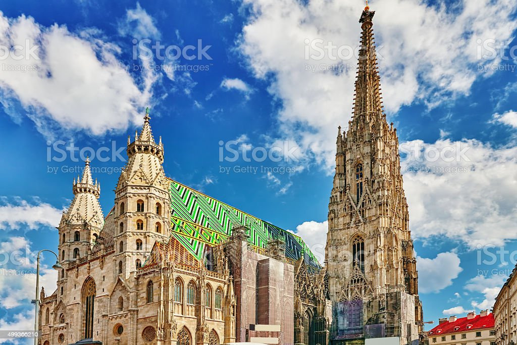 St. Stephen's Cathedral(Stephansdom). stock photo