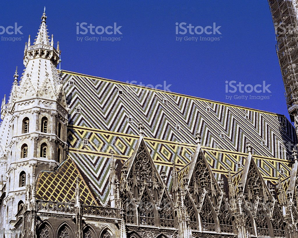 St. Stephens Cathedral Roof royalty-free stock photo