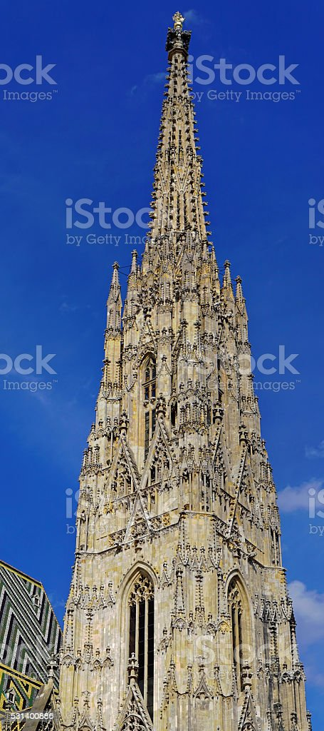 St. Stephens Cathedral Tower stock photo