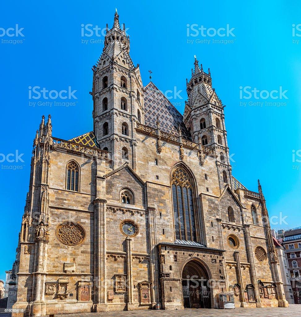 St. Stephen's Cathedral, Vienna.  Austria. stock photo