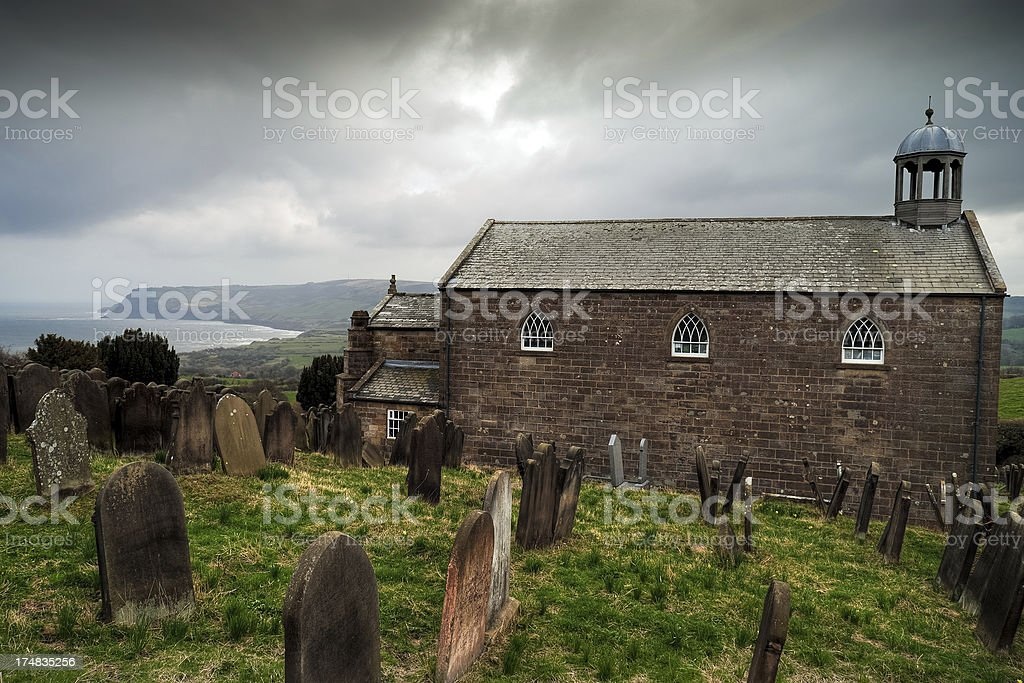 St. Stephen's Church, Robin Hoods Bay, North Yorkshire stock photo