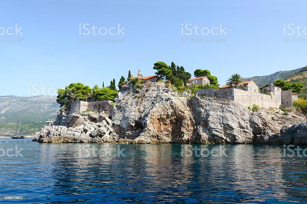 St. Stephen's Island (Sveti Stefan), Montenegro stock photo