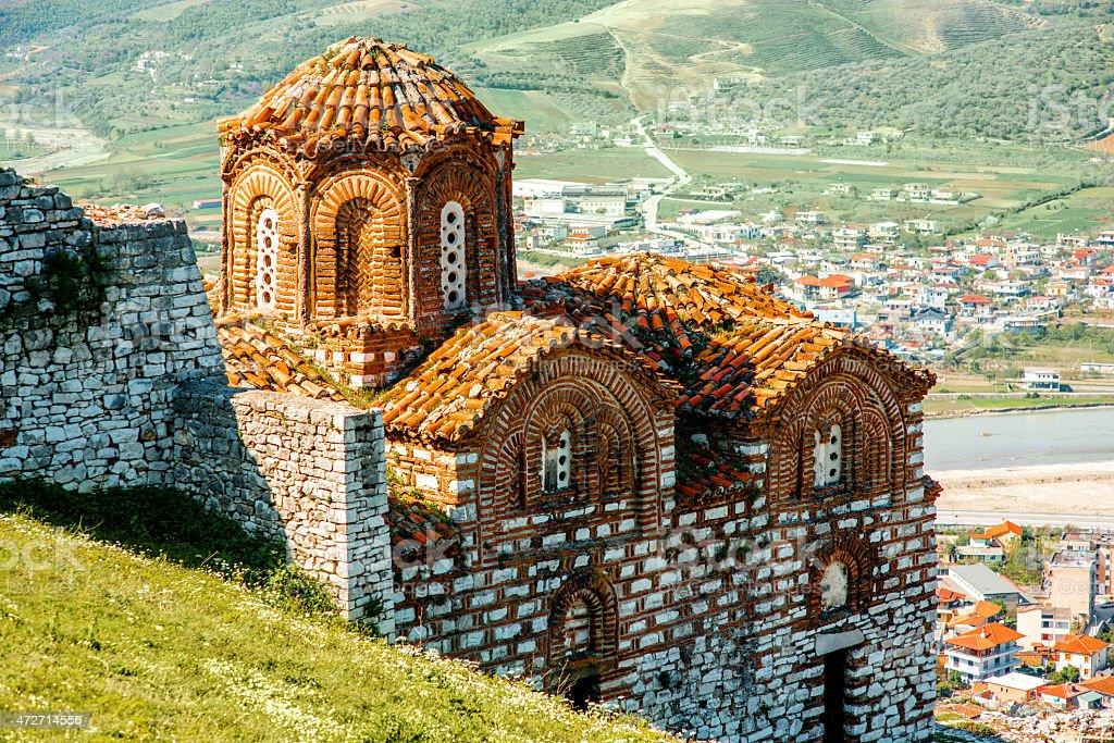 St. Theodores church in Berat stock photo