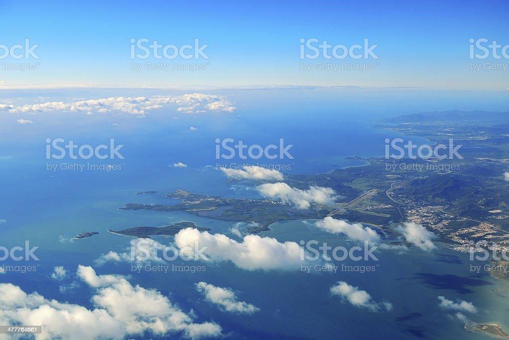 St Thomas aerial view stock photo