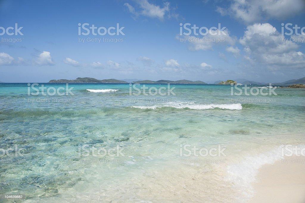 St. Thomas Beach stock photo
