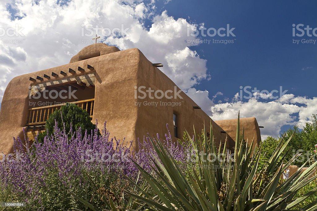 St. Thomas Catholic Church, Abiquiu, New Mexico stock photo