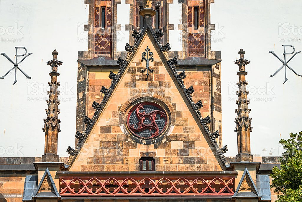 St. Thomas Church in Leipzig, Germany stock photo