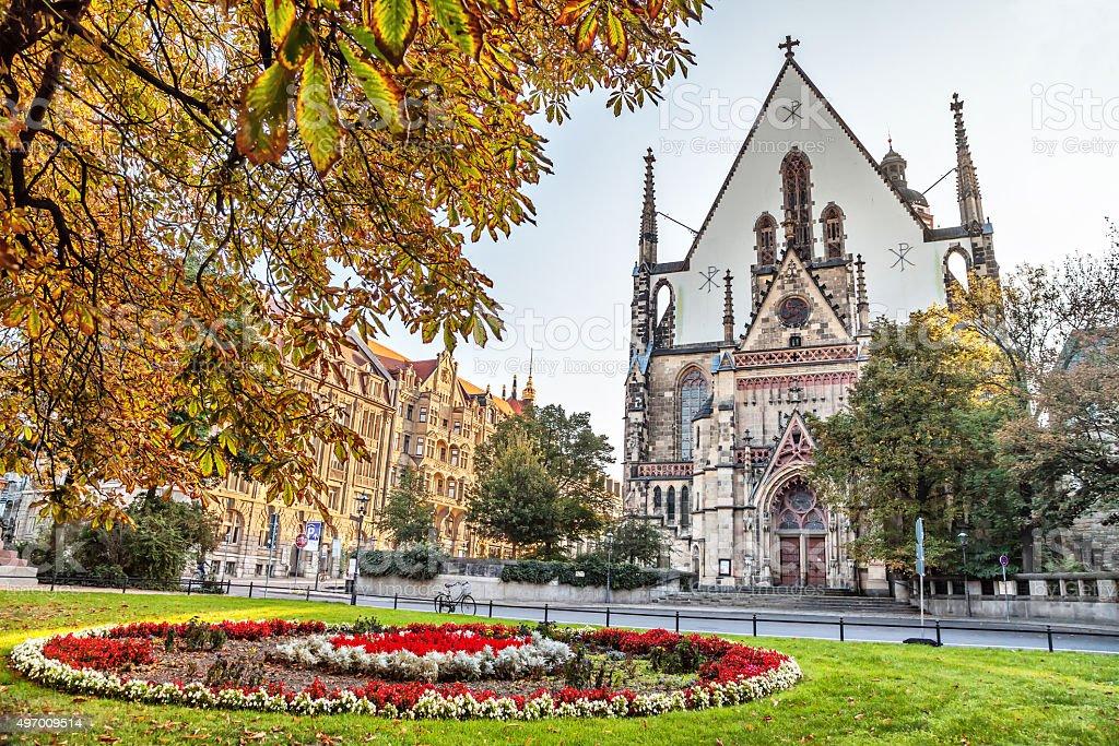 St. Thomas Church in Leipzig stock photo