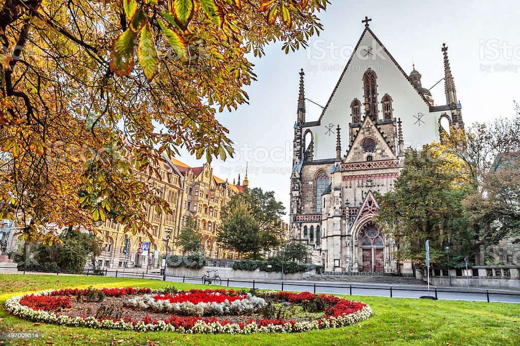 St. Thomas Church in Leipzig stock photo
