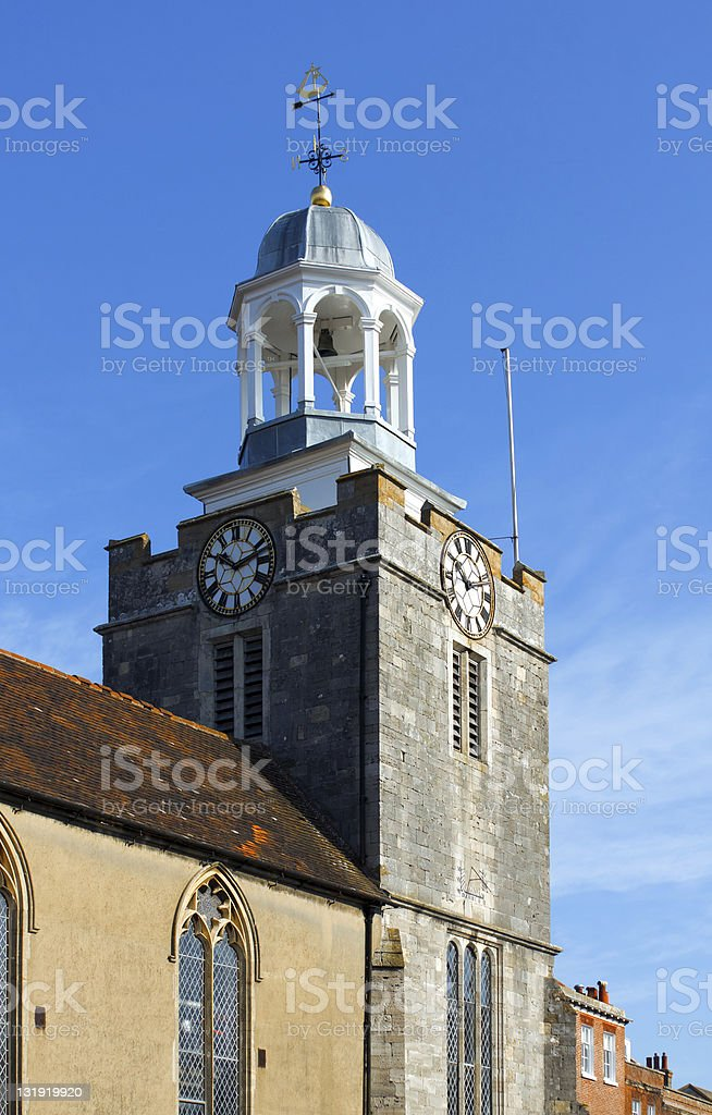 St Thomas Church Lymington stock photo