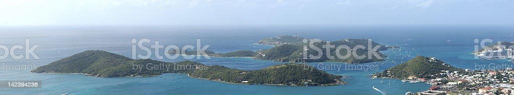 St. Thomas Panorama royalty-free stock photo