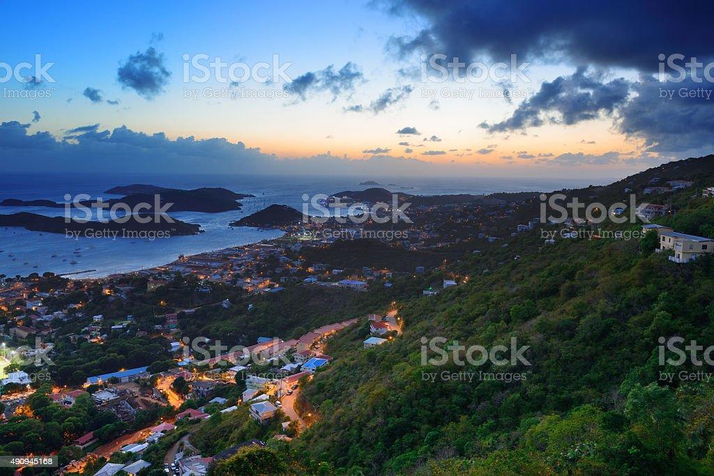 St Thomas sunset stock photo