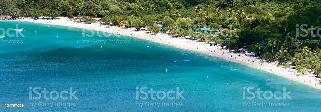 St thomas turquoise waters royalty-free stock photo