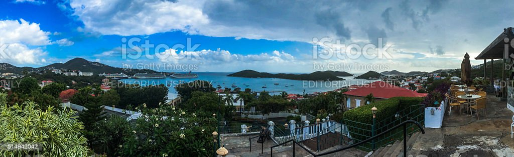 St. Thomas - Virgin Islands Panoramic View stock photo