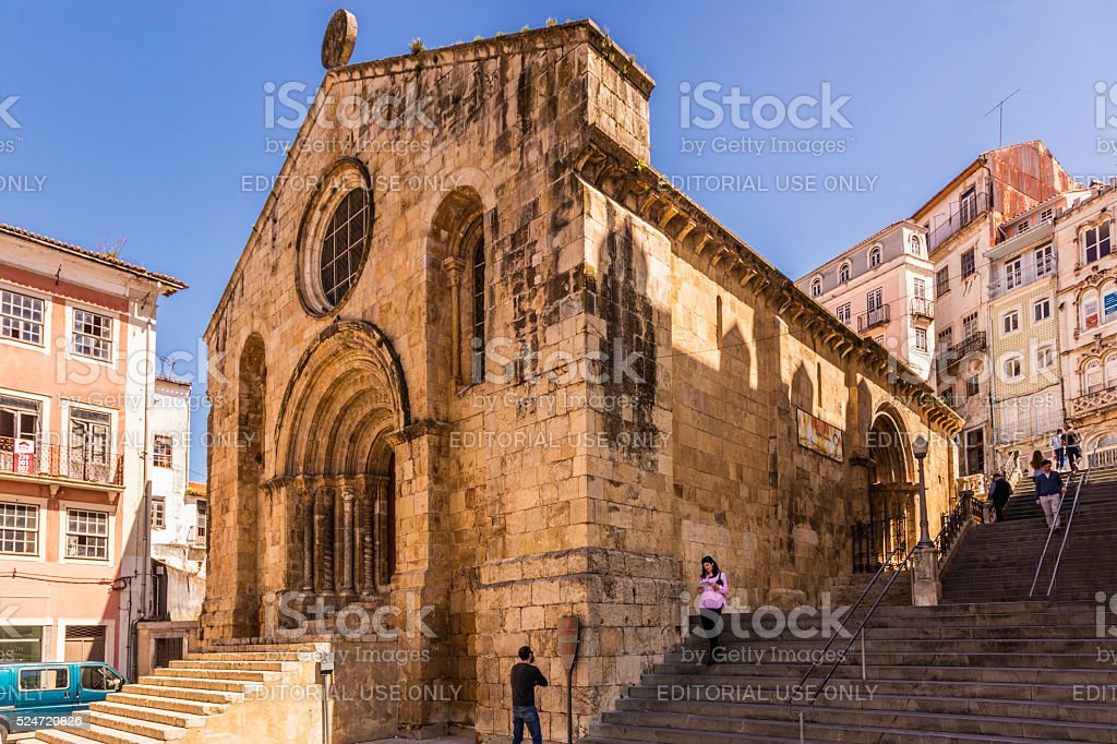 St Tiago church in Coimbra, Portugal stock photo