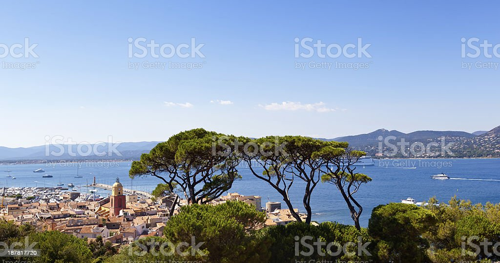 St Tropez and The Gulf stock photo