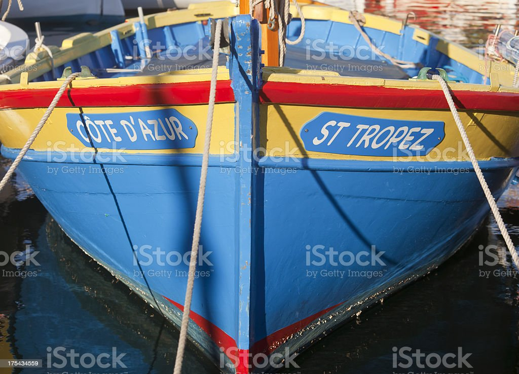 St Tropez Boat stock photo