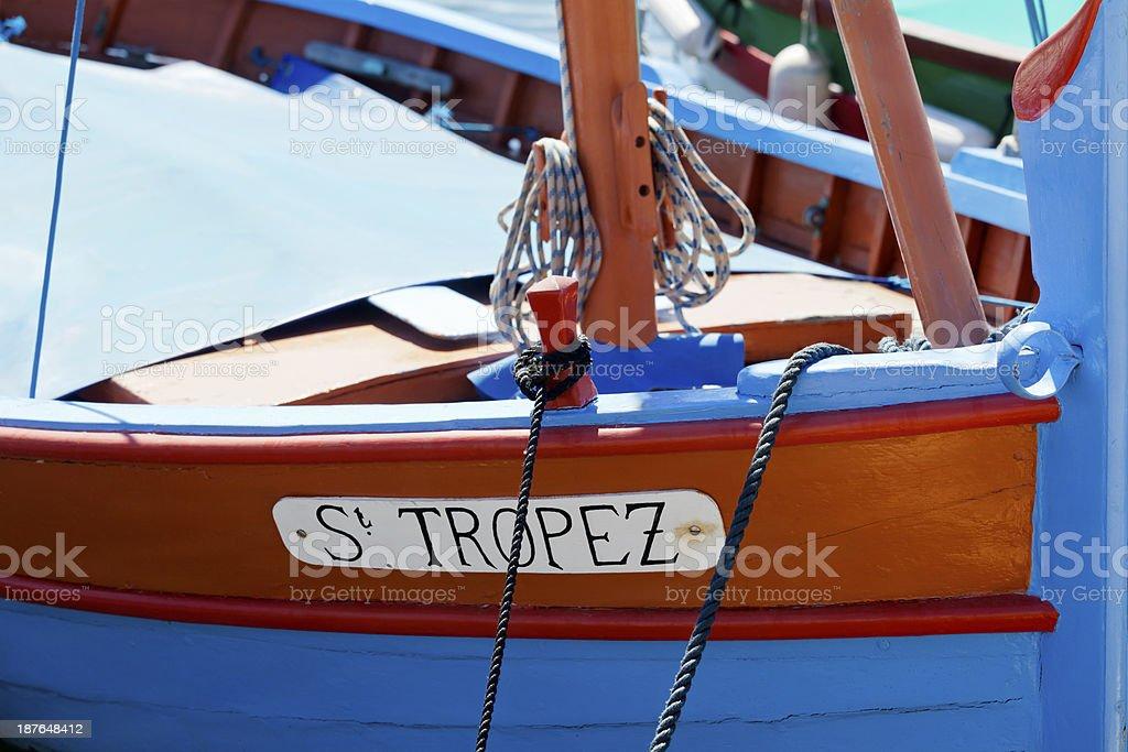 St Tropez Fishing Boat stock photo