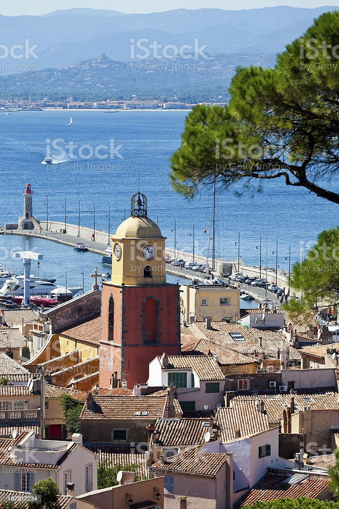St Tropez French Riviera stock photo