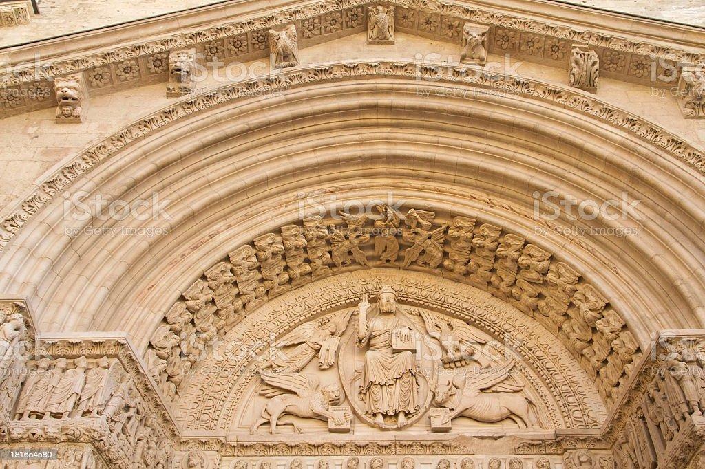 St Trophime Church. Portal Detail (Arles, France). royalty-free stock photo