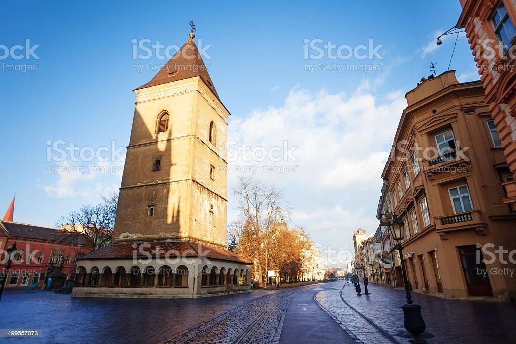 St. Urban Tower (Urbanova veza) Kosice, Slovakia stock photo