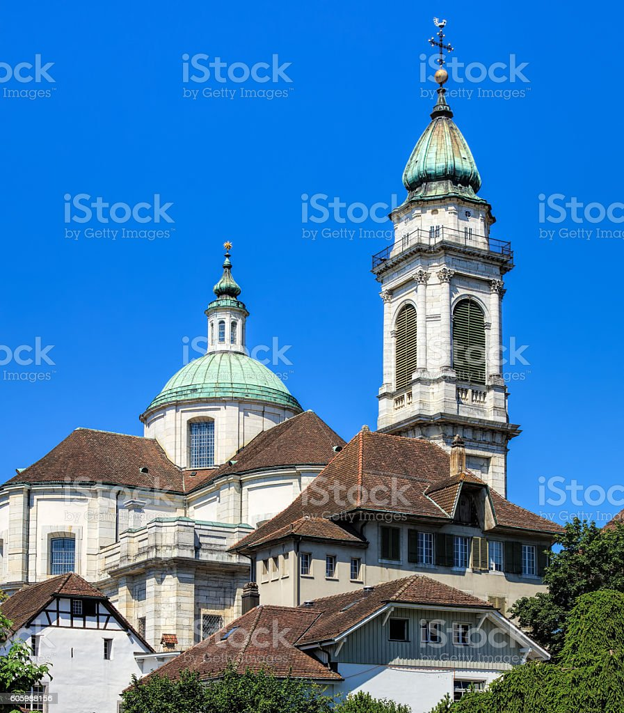 St. Ursus Cathedral in the city of Solothurn, Switzerland stock photo