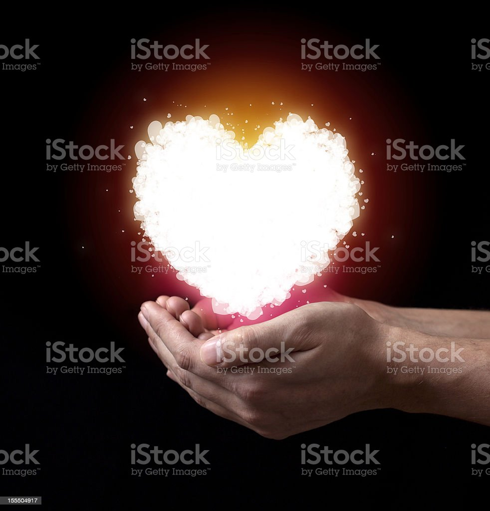 St Valentine`s heart royalty-free stock photo