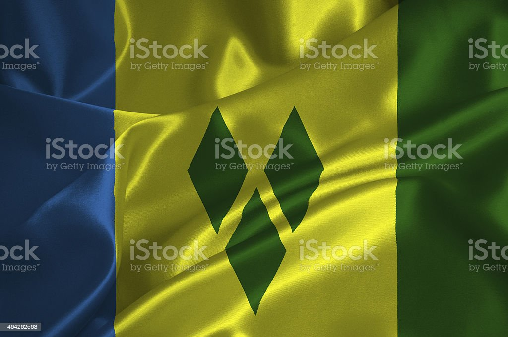 St Vincent and Grenadines flag stock photo