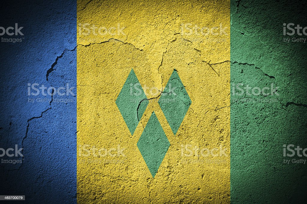 St. Vincent & The Grenadines flag stock photo
