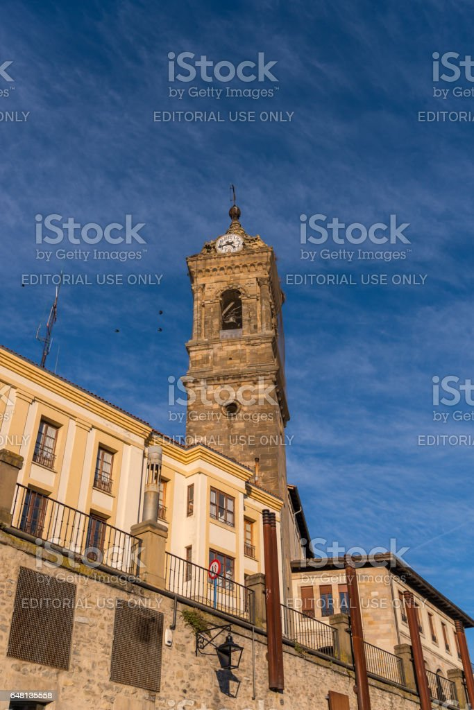 St Vincent the Martyr Church, Vitoria-Gasteiz, Basque Country, Spain stock photo