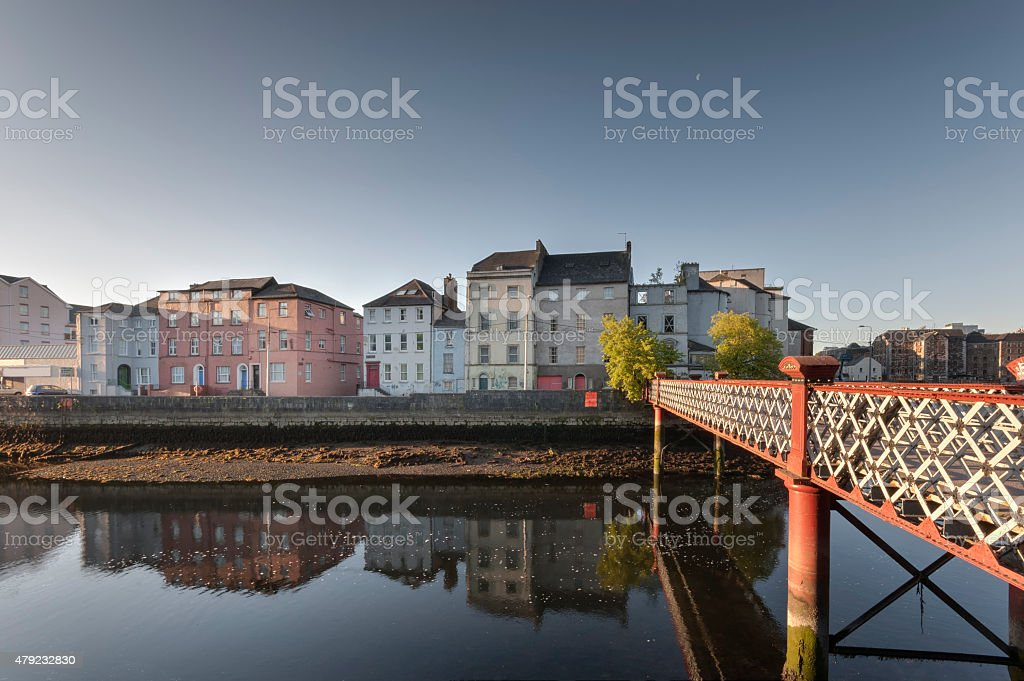 St Vincent's Footbridge, Cork City, Ireland stock photo