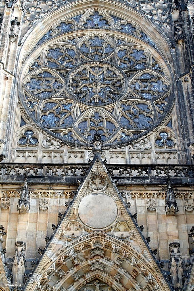 St. Vitus Cathedral facade royalty-free stock photo