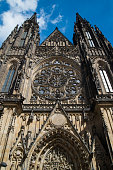 St. Vitus Cathedral in Prague, Czech Republic summer day